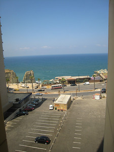The view from the hotel towards Pigeon Rocks at Raouche, Beirut.