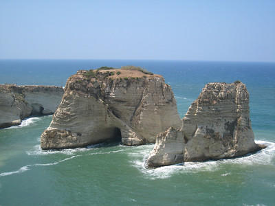Pigeon Rocks at Raouche, Beirut.