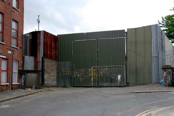 Site of British Army Girdwood camp, Kinnaird Street, Antrim Road, Belfast, 7 May 2009 1.