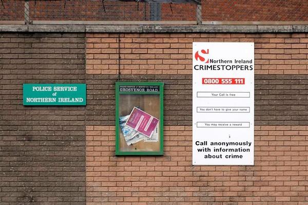 Grosvenor Road police station, Belfast, 7 May 2009 2