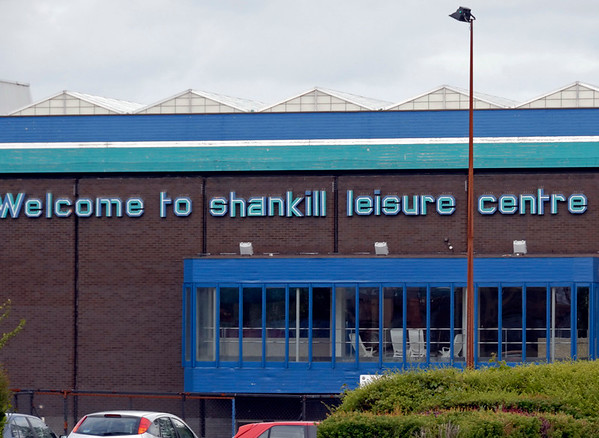 Shankill leisure centre, Shankill Road, Belfast, 7 May 2009.  There is also a leisure centre on Falls Road - one on each side of the sectarian divide.