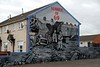 Mural, Hopewell Crescent, Belfast, 7 May 2009.  1969 was when the Troubles broke out.