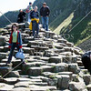 Giant's Causeway rocks formations in Northern Ireland.