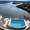 Cruise ship port at Belfast, Northern Ireland.