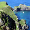 A view of the Antrim coast near the Dunluce Castle in Northern Ireland.