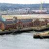 Warehouse and buildings at the shipping port in Belfast, Northern Ireland