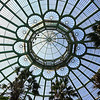 The ceiling of one of the main buildings in the greenhouse.