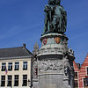 Famous status in the square in Bruge.