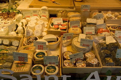 Namur. A shop window full of lovely cheeses.