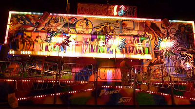 """Herrmalle.Young Emil talked Holly into riding the Tidal Surf at the carnival. So it was me and 20 little kids. When the announcer asked if we wanted to keep going, and go faster - it was 20 little kids yelling """"oui"""" and me yelling """"no"""". They won."""