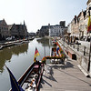 Ghent - this is one of the many canals in the city.  The tour group enjoyed a fine Canal Boat cruise through the city during our short visit here.