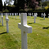 Bruges / Ypres - these are some of the graves in the American Cemetery.  These use a cross rather than the type of memorial stone used in the Commonwealth Cemeteries.