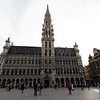Brussels - Grand Place and the Town Hall.