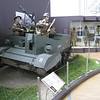 Brussels - Royal Army & Military History Museum.  This is one of the Universal Carriers used by British and Commonwealth forces during WW-II.  These were used for both carrying support weapons as well as transport for small numbers of troops.  It was usually fitted with a Bren Gun, but other types of armaments were also used.  Power was provided by an 85 hp Ford V-8 engine.