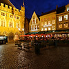 Bruges - evening activity in Market Square.