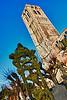 The tower of the Our Lady church (13th century) of Damme seen from the cemetery - West Flanders - Belgium <br /> <br /> Torre de la iglesia Nuestra Señora (siglo XIII) en el pueblito de Damme desde el cementerio - Flandes Occidental - Bélgica<br /> <br /> Turm von Unserer Lieben Frau Kirche vom Friedhof gesehen - Westflandern - Belgien<br /> <br /> Clocher de l'église de Notre Dame (XIII siècle) de Damme vu du cimetière - Flandre Occidentale - Belgique<br /> <br /> Zicht over de Onze-Lieve-Vrouw kerktoren (XIII eeuw) in het dorpje Damme vanaf het kerkhof - West-Vlaanderen - België