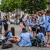Vertrek op Kamp naar Opoeteren - Bevrijdingsplein - Menen - West-Vlaanderen