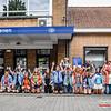 Leiding KSA Menen - Vertrek op Kamp naar Opoeteren - Bevrijdingsplein - Menen - West-Vlaanderen