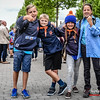 Jongknapen Robbe, Iben, Amaya & Ella - KSA Menen - Vertrek op Kamp naar Opoeteren - Bevrijdingsplein - Menen - West-Vlaanderen