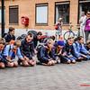 Jongknapen KSA Menen - Vertrek op Kamp naar Opoeteren - Bevrijdingsplein - Menen - West-Vlaanderen