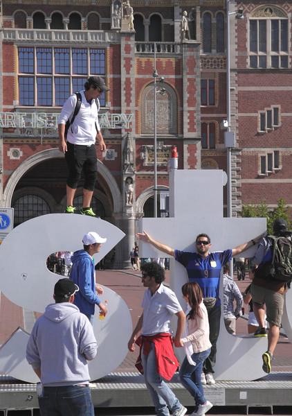 I Amsterdam sign by Rijksmuseum Amsterdam Holland