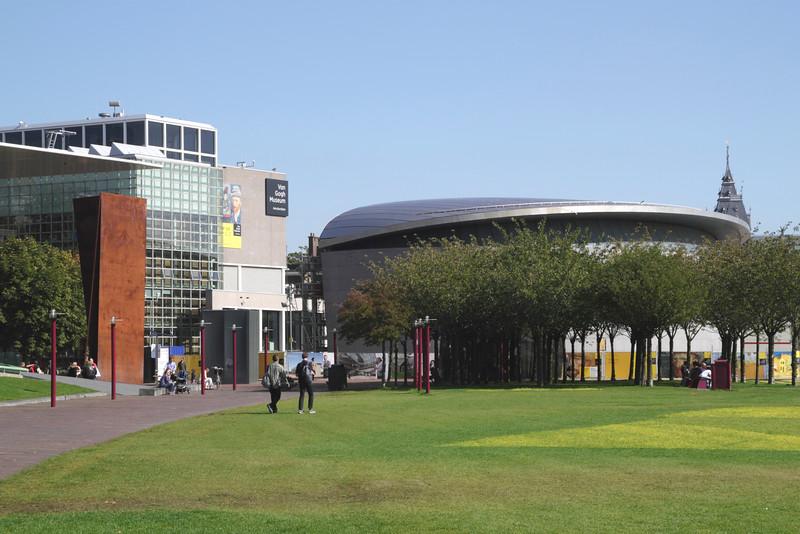 Museumplein Amsterdam Van Gogh museum on left