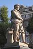 Rembrandt statue in Rembrandtplein Amsterdam Holland