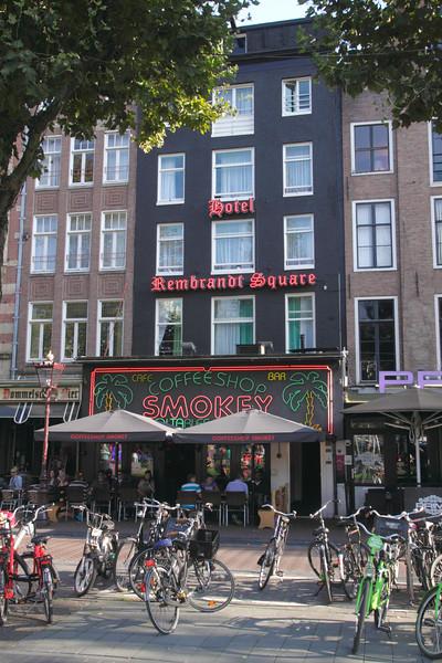 Coffeeshop Smokey Rembrandt Square Amsterdam Holland