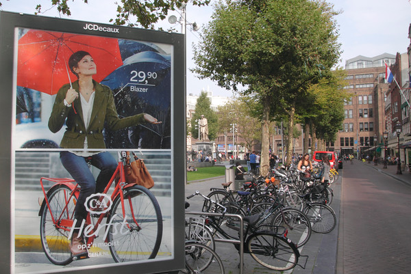 Advert in Rembrandt Square Amsterdam Holland