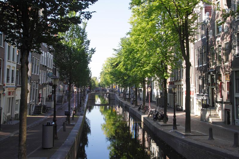 Oudezijds Achterburgwal Canal Amsterdam Holland