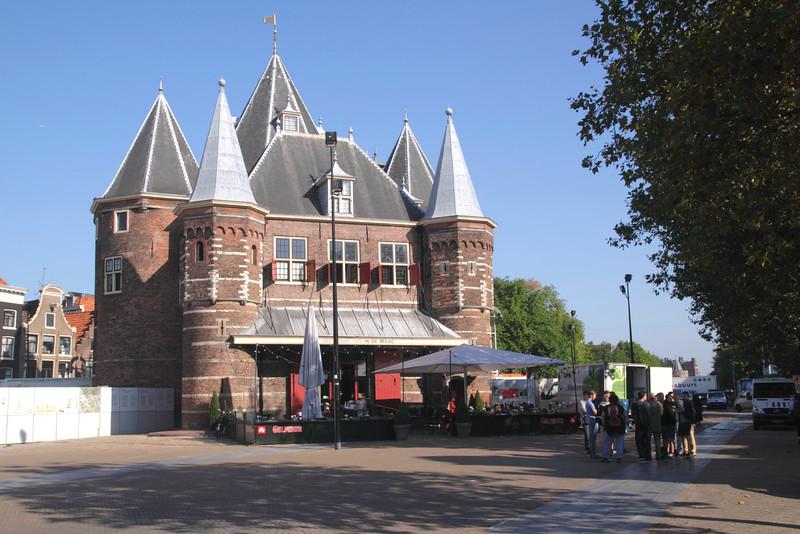 Waag gatehouse Nieuwmarkt Square Amsterdam Holland