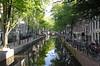 Oudezijds Achterburgwal Canal near the University Amsterdam Holland