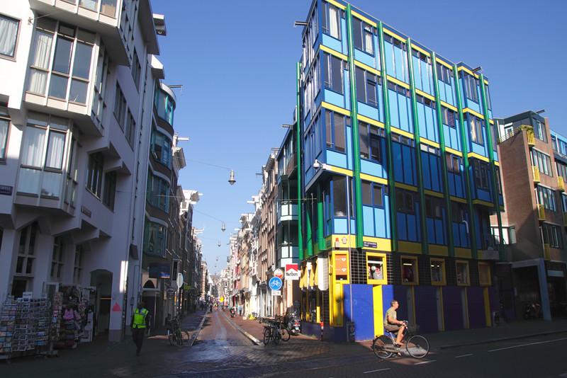 Shops at Sint Antoniesbreestraat in Old Side District Amsterdam