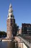 Montelbaanstoren on Oudeschans canal Amsterdam