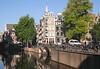 Grimburgwal Canal near the University Amsterdam Holland