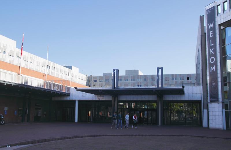 Entrance to Stadhuis Muziektheatre opera house Amsterdam