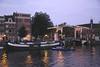 Walter Sueskind drawbridge by River Amstel Amsterdam at sunset
