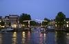 Walter Sueskind drawbridge by the River Amstel Amsterdam at night