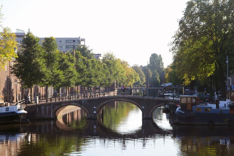 Bridge at entrance to Keizersgracht Canal Plantage district Amsterdam