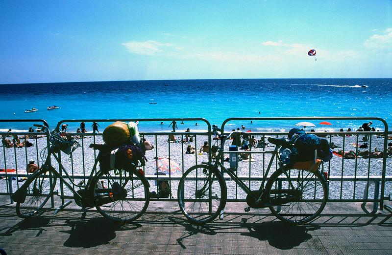 Bicycles at Beachfront Nice