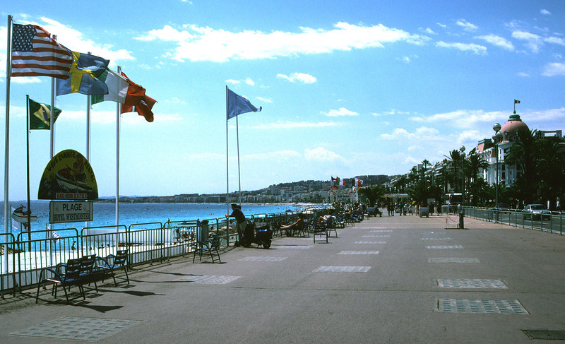Flags at Nice waterfront France