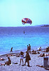 Paraglider at Beachfront Nice