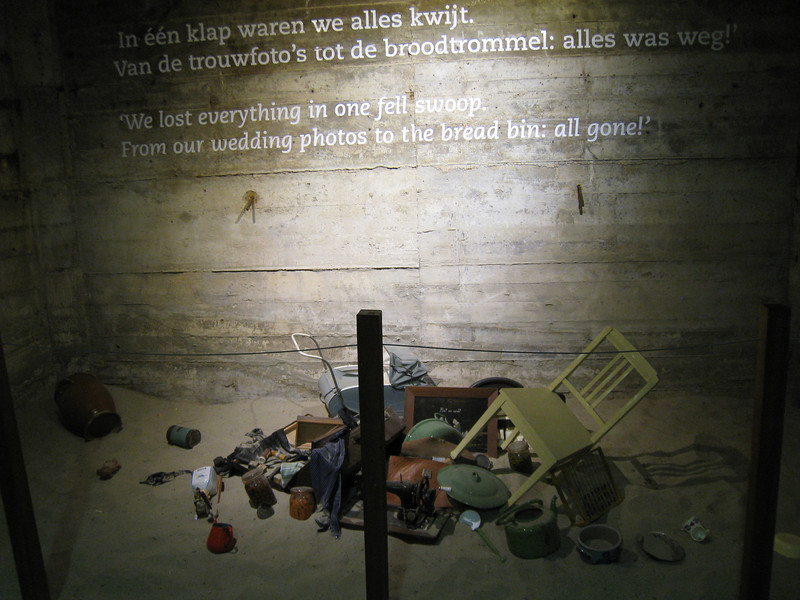 Watersnoodmuseum.  One of the displays, which depicts some of the terrible consequences that affected people in the area affected by the flooding.
