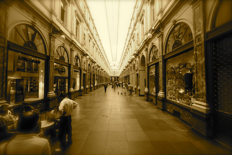One of the grand covered malls of Belgium