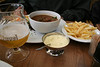 Beer beef stew with mayonnaise fries--oh, yeah...