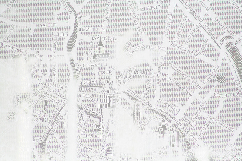 A lace map of the city