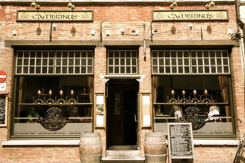 Cambrinus--our main beer stop in Brugge