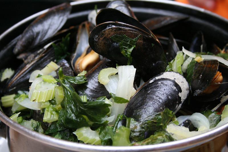 Mussels were in season, and on menus everywhere