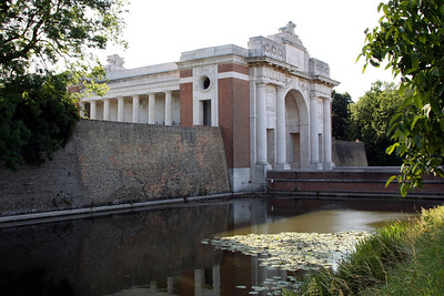 The Menin Gate Memorial which commemorates those soldiers of the British Commonwealth - with the exception of New Zealand and Newfoundland - who fell in the Ypres Salient during the First World War before 16 August 1917, and who have no known grave. Those who died from that date - and all from New Zealand and Newfoundland - are commemorated elsewhere (mainly at Tyne Cot cemetery). The memorial's location is especially poignant as it lies on the eastward route from the town which allied soldiers would have taken towards the fighting - many never to return.