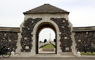 Tyne Cot Cemetery.  This is the largest Commonwealth War Graves Cemetery on the Western Front and is associated with the 3rd Battle of Ypres (Passchendaele, October 1917).